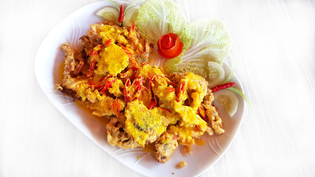 Soft Shell Crab with Salted Egg Sauce